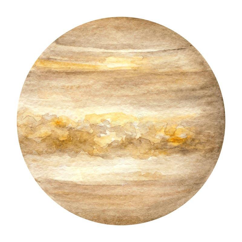 太阳系行星-金星 额嘴装饰飞行例证图象其纸部分燕子水彩 皇族释放例证