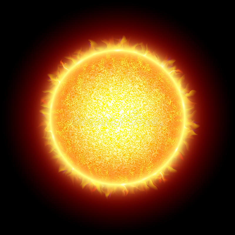 太阳 库存例证