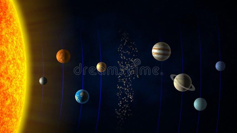 太阳系 向量例证