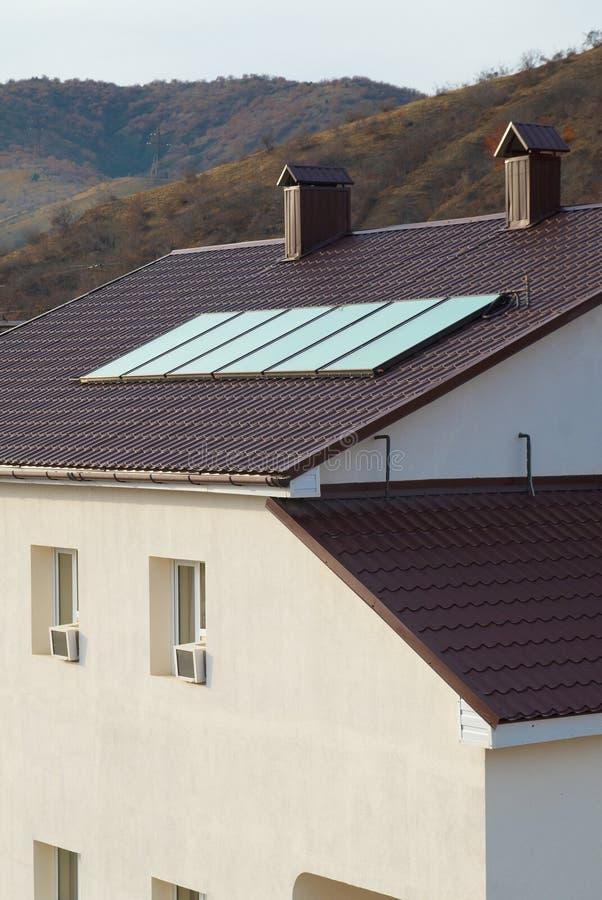 太阳geliosystem的面板 免版税库存图片