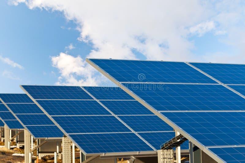 太阳photovoltaics面板 免版税库存图片