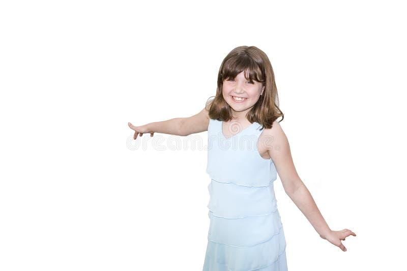 夫人微笑的年轻人 图库摄影