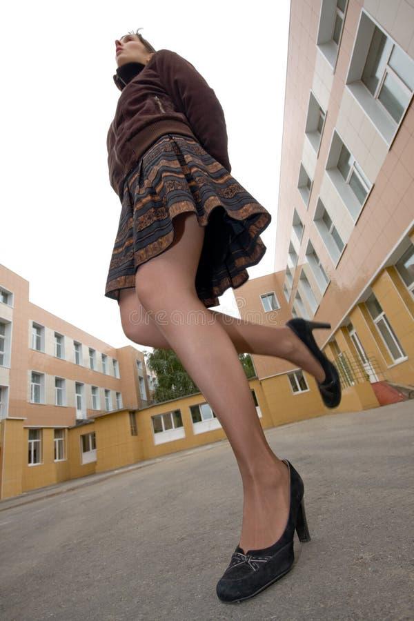 夫人有腿长 免版税库存照片
