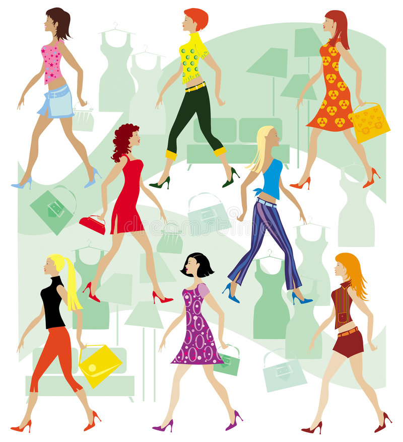 Download 夫人界面 向量例证. 插画 包括有 头发, beauvoir, 购买, 货物, 女孩, 不同, 采购, 衣裳 - 904757
