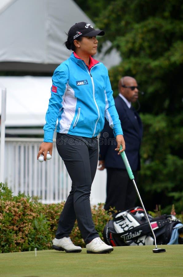 夫人职业高尔夫球运动员丽迪雅Ko毕马威妇女的PGA冠军2016年 库存图片