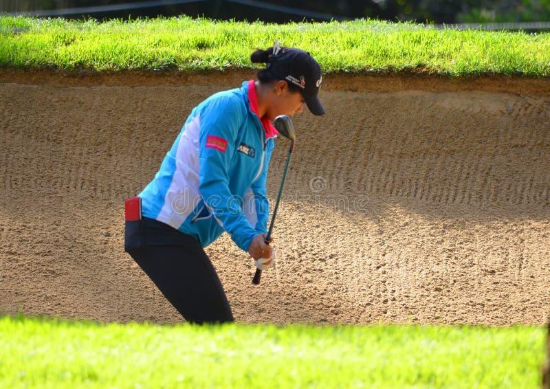 夫人职业高尔夫球运动员丽迪雅Ko毕马威妇女的PGA冠军2016年 免版税库存照片