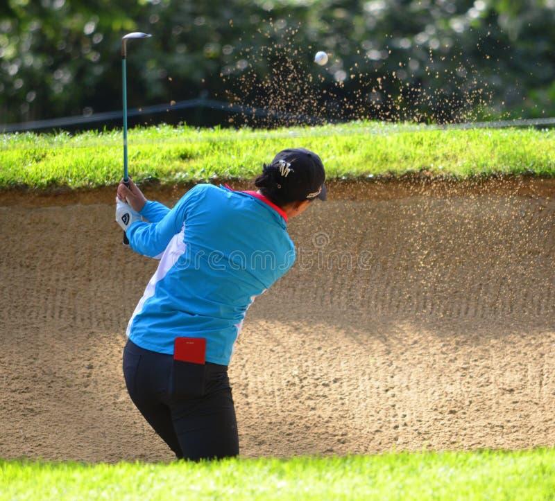 夫人职业高尔夫球运动员丽迪雅Ko毕马威妇女的PGA冠军2016年 免版税库存图片