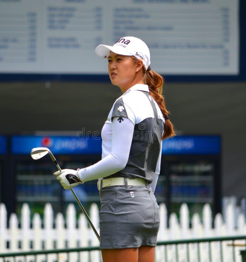夫人职业高尔夫球运动员Minjee李毕马威妇女的PGA冠军2016年 免版税库存照片