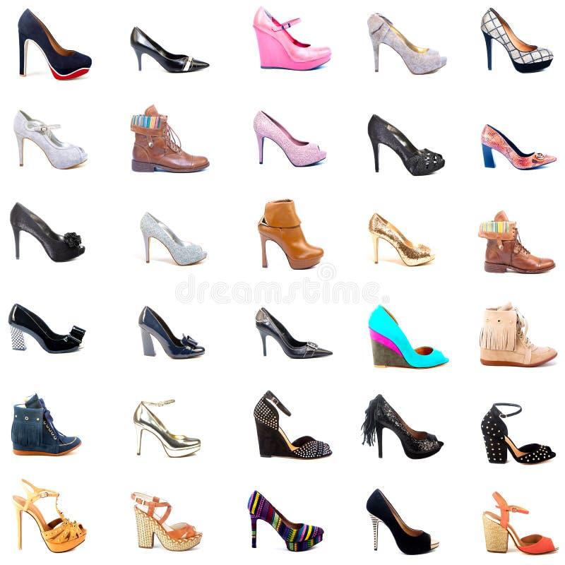 夫人鞋子拼贴画 免版税库存照片