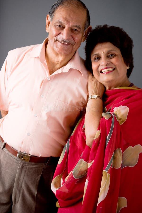 夫妇东部年长印地安人 免版税图库摄影