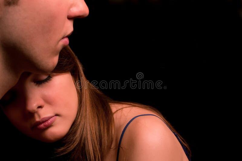 夫妇严重的纵向年轻人 图库摄影