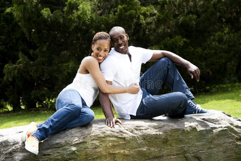 夫妇乐趣愉快爱微笑 库存照片