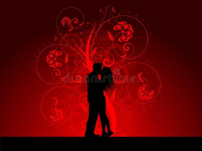 夫妇亲吻 向量例证