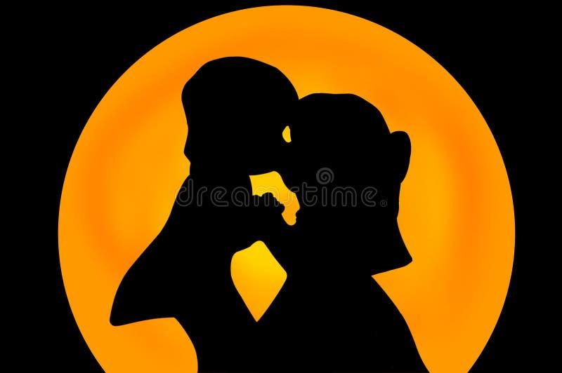 Download 夫妇亲吻 库存例证. 插画 包括有 亲吻, 妇女, 飞雪, 夫妇, 婚礼, 婚姻 - 54266