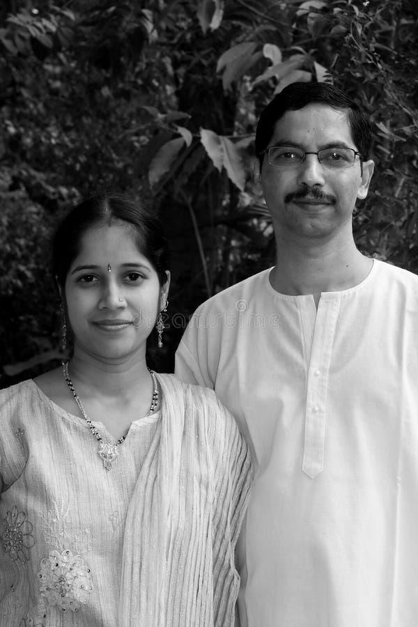 夫妇优美的印地安人 库存照片