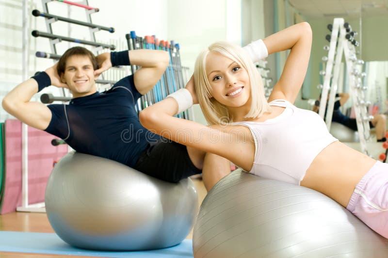 夫妇体育运动 库存图片