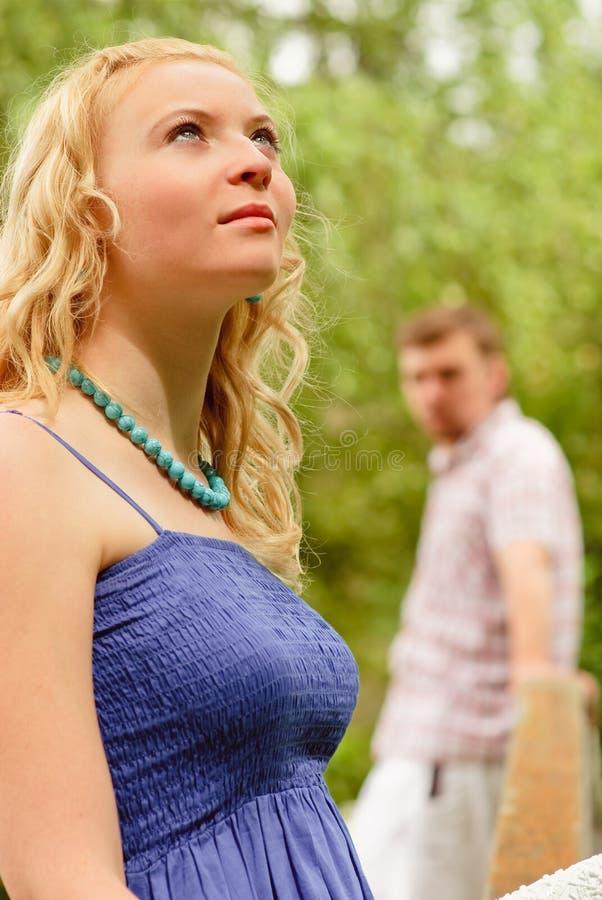 夫妇倾心的本质 免版税图库摄影