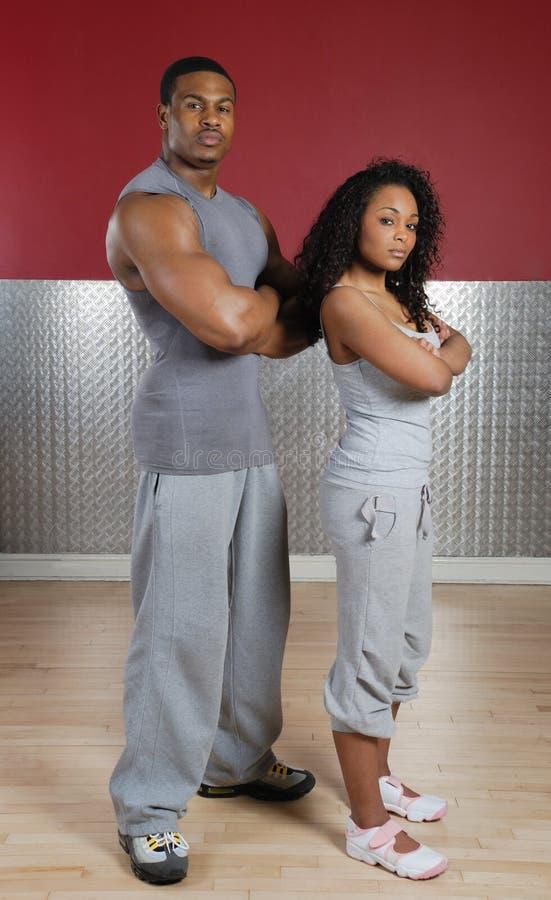 夫妇健身培训人 图库摄影