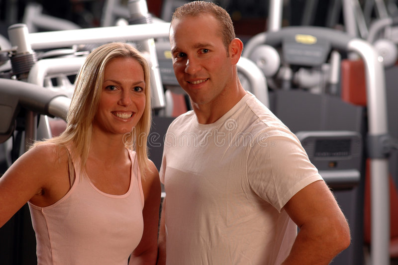 夫妇健身 库存图片