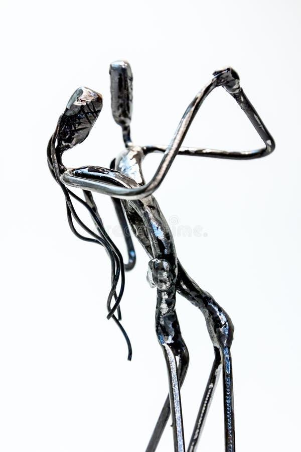 夫妇充满激情,桑巴, ru的跳舞探戈创造性的图  库存照片
