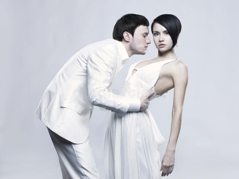 夫妇典雅的年轻人 库存图片