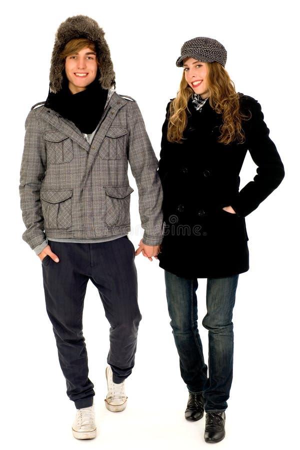 夫妇冬天 免版税库存照片