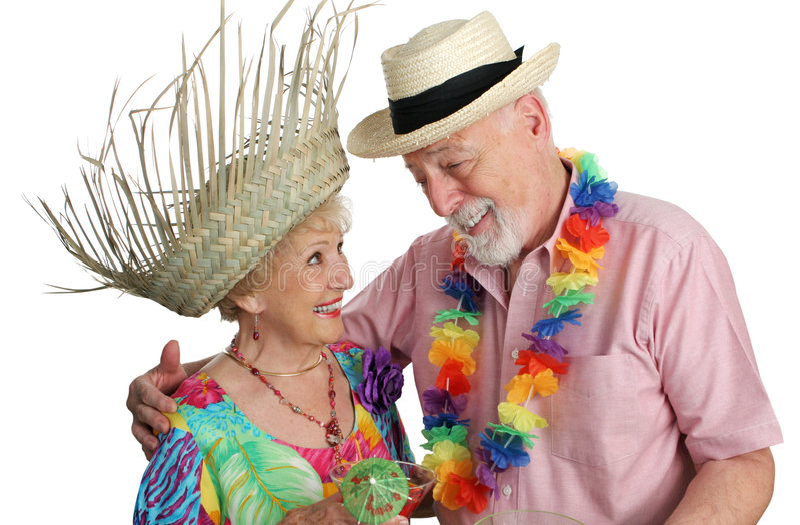 夫妇前辈假期 免版税图库摄影