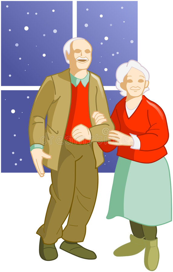 夫妇前辈 库存例证