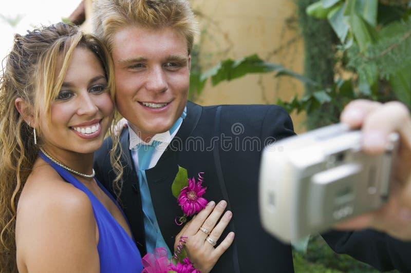 夫妇加工好的拍照少年很好 图库摄影