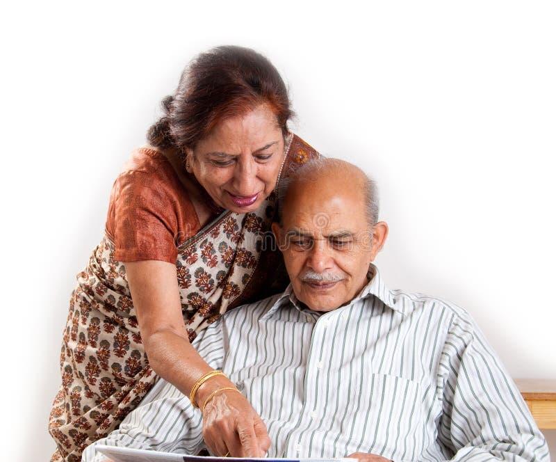 夫妇印第安前辈 库存图片