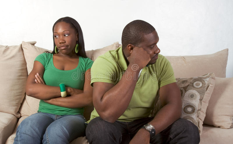 夫妇危机困难家庭关系 免版税库存图片