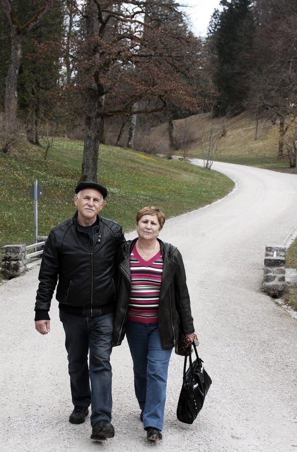 夫妇可爱的前辈 图库摄影