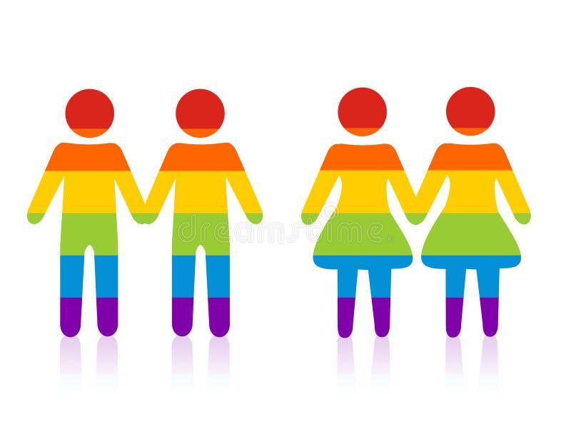 夫妇同性恋者 向量例证