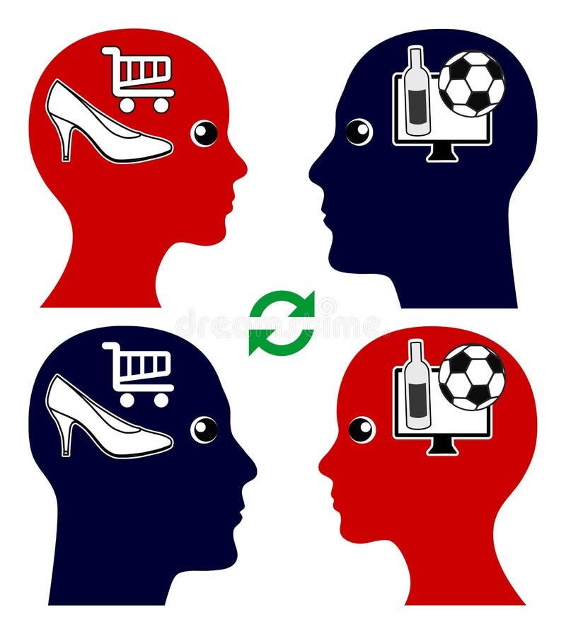 夫妇和情感智力 库存例证