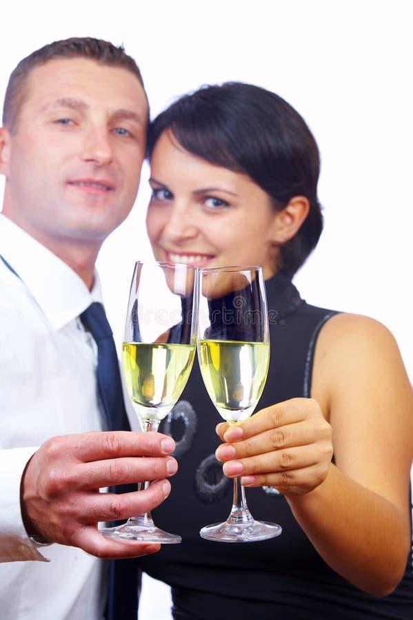 夫妇喝 库存图片
