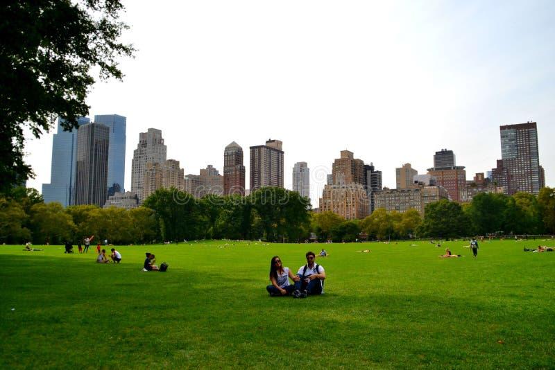 夫妇在中央公园-纽约 图库摄影
