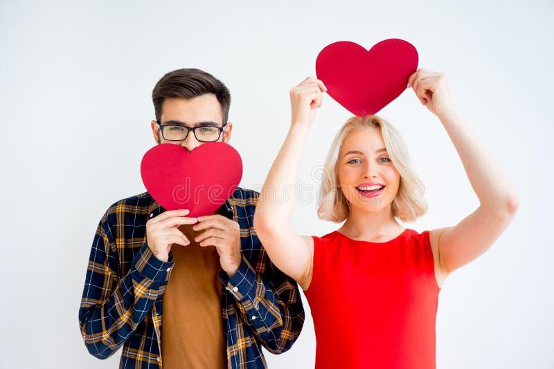 夫妇在情人节 免版税库存照片
