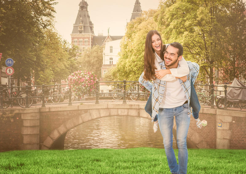 夫妇在阿姆斯特丹 库存图片