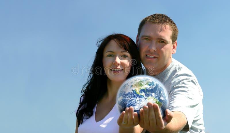 夫妇地球藏品 免版税库存照片