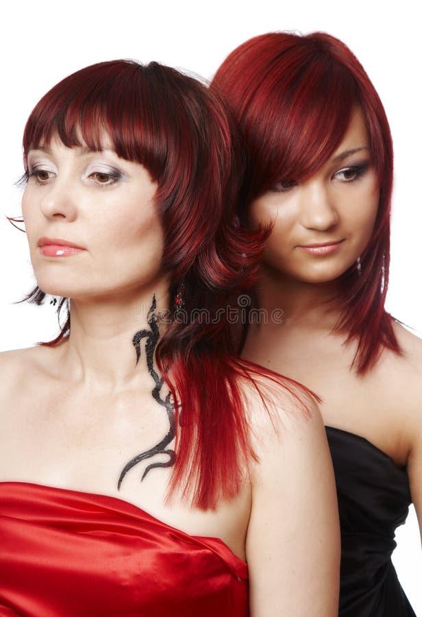夫妇头发的红色 库存照片
