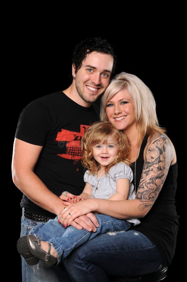 夫妇女儿年轻人 库存照片