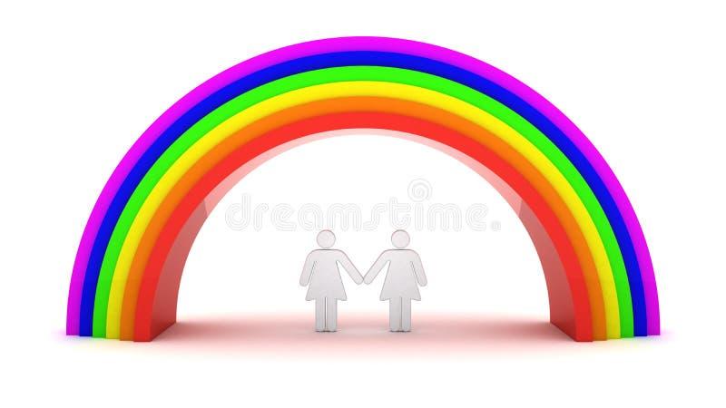 夫妇女同性恋者 向量例证