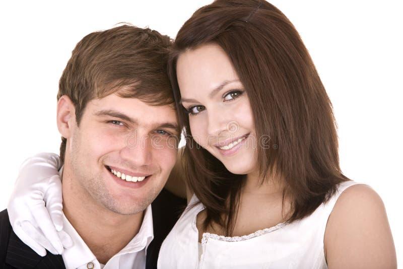 夫妇女孩爱人激情 免版税图库摄影
