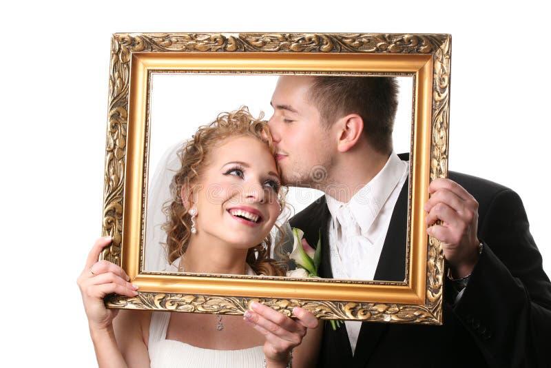 夫妇婚礼 免版税库存图片