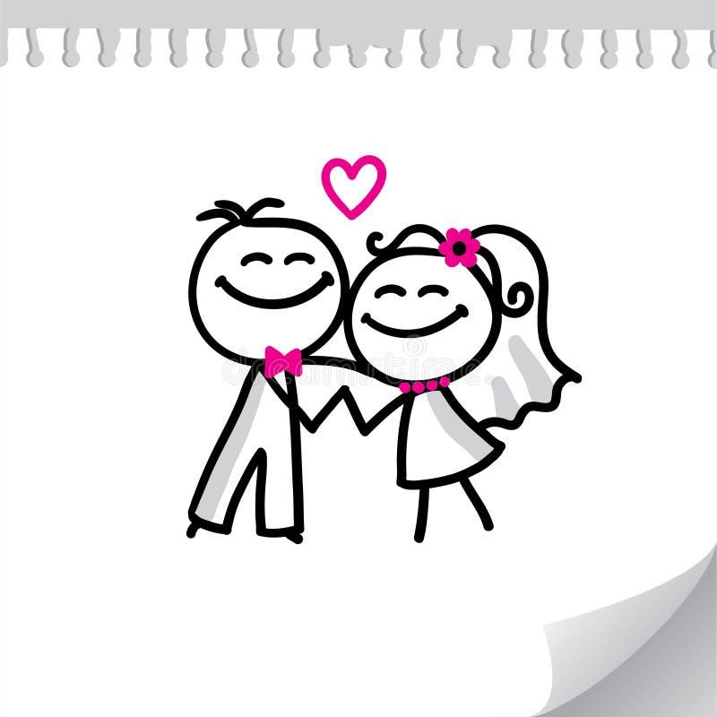 夫妇婚礼 库存例证