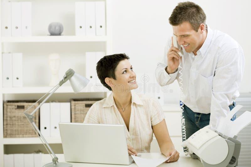夫妇家庭办公工作 库存图片