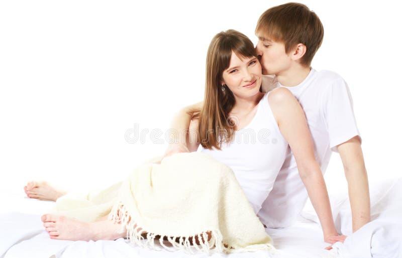夫妇年轻人 库存照片