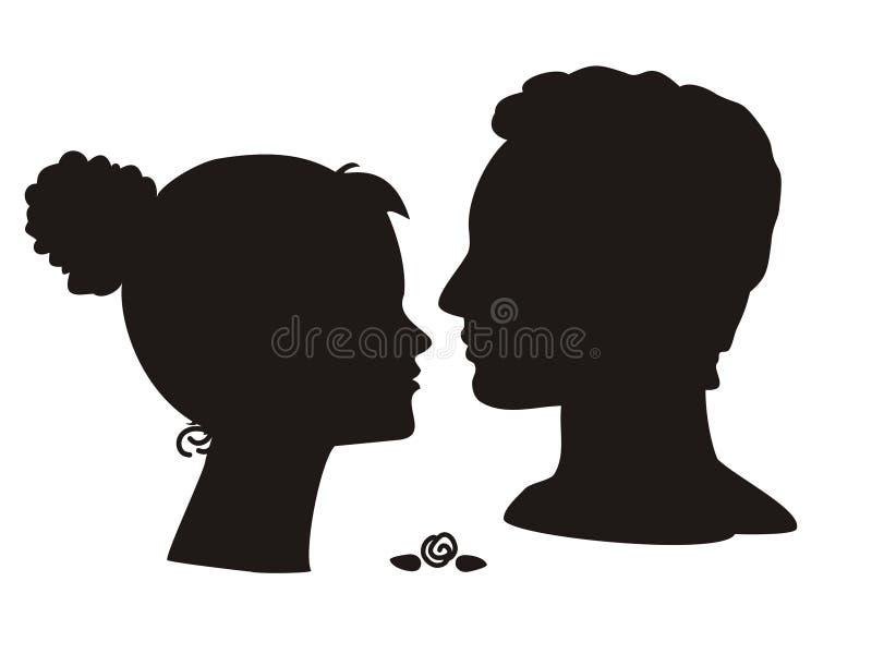 夫妇年轻人 库存例证