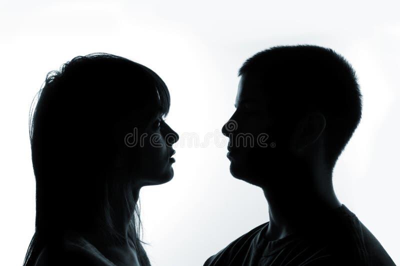 夫妇年轻人 免版税库存照片