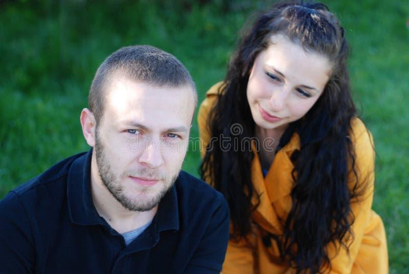 夫妇年轻人 免版税库存图片